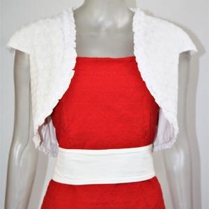vestido rojo con torera