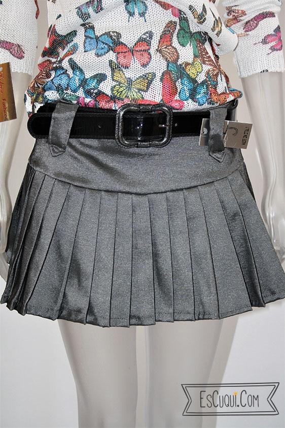 minifalda tablas gris