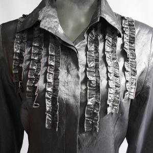 blusa seda gris