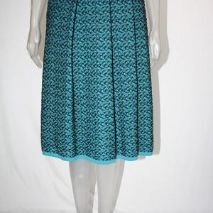 falda midi turquesa