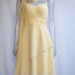 vestido corto ceremonia mujer amarillo