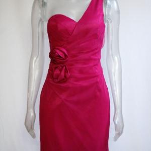 vestido corto fiesta elastico fuxia