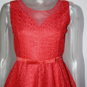 vestido vestir vuelo rojo
