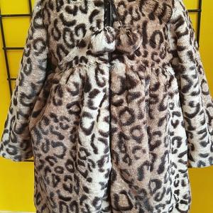 abrigo peluche bebe leopardo