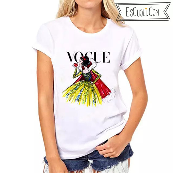 camiseta vogue blancanieves princesas