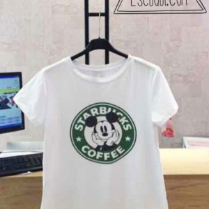 Camiseta Mickey Mouse Starbucks.