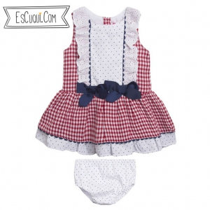 vestido jesusito bebe cuadritos