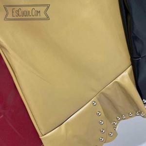 mini falda polipiel tachuelas