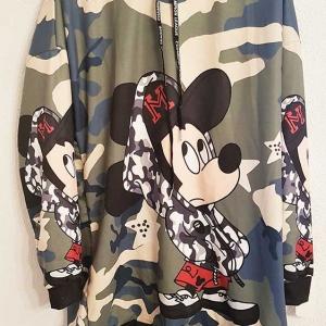 Sudadera Mickey camuflaje larga