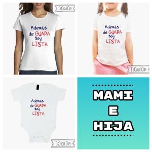 camiseta y body igual madre hija