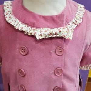 vestido terciopelo rosa niña 6 años