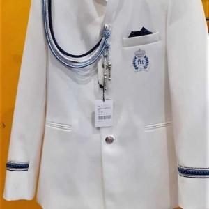 traje almirante niño cuello mao blanco