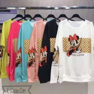 Sudadera louis vuitton mickey minnie mouse