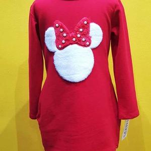 vestido niña minnie mouse algodon