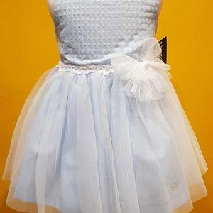 vestido niña celeste ceremonia arras corto tul