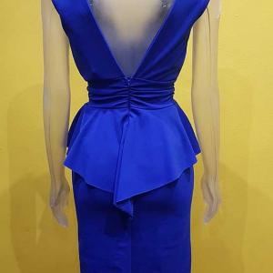 vestido azul volante vestir mujer