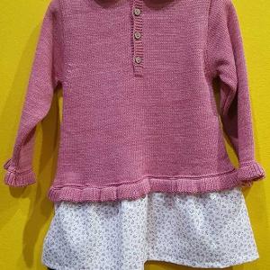 vestido punto rosa 18 meses