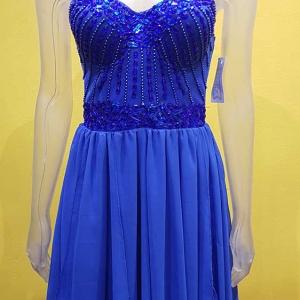 vestido vestir azul piedras
