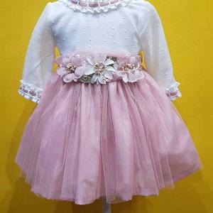 vestido tul rosa vestir ceremonia niña