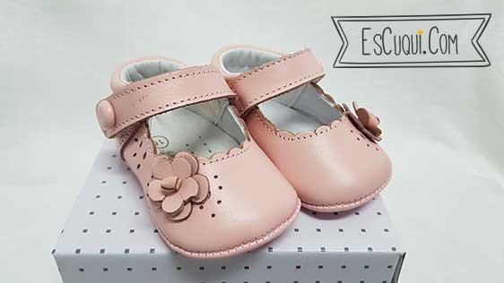 zapatos bebe sin suela rosa