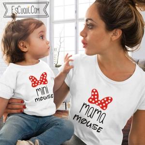 camisetas iguales mama y niña mickey mouse