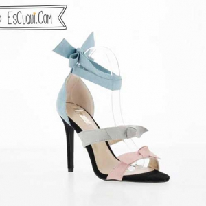 Sandalias vestir tacón lazo