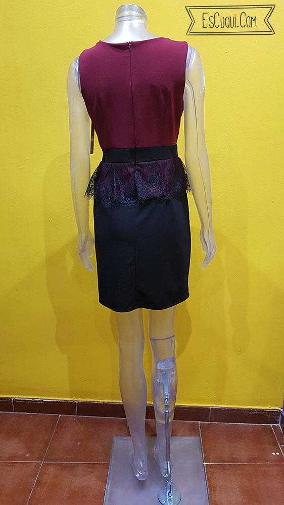 vestido granate vestir corto