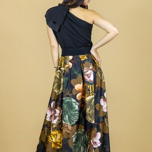 falda larga vestir flores