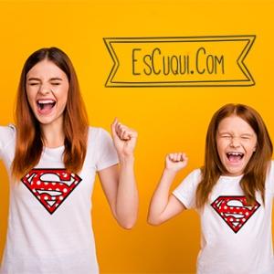 camiseta madre hija iguales superman