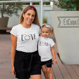 camiseta madre hija love mickey