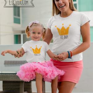 camiseta reina princesa mama hija