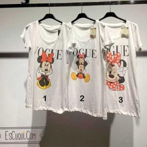 camisetas vogue mickey minnie mouse