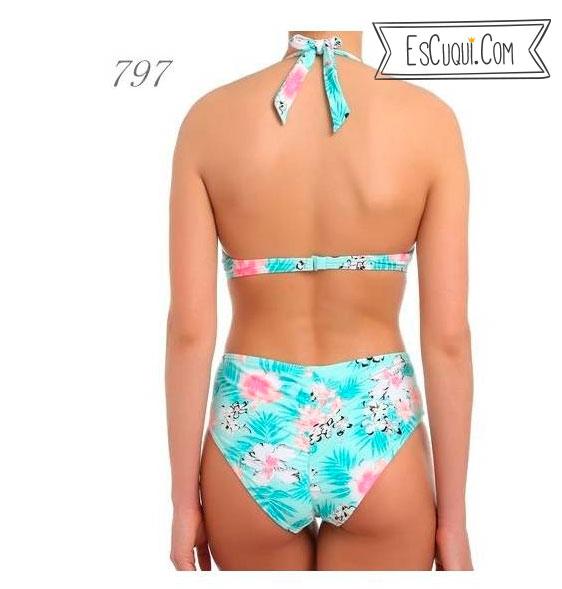 bikini flores braguita alta