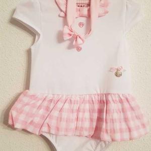 ranita bebe niña algodon blanco rosa