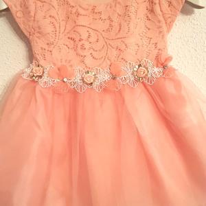 vestido arras ceremonia barato niña rosa