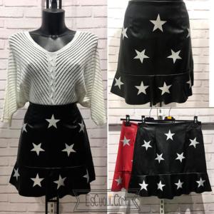falda polipiel estrellas