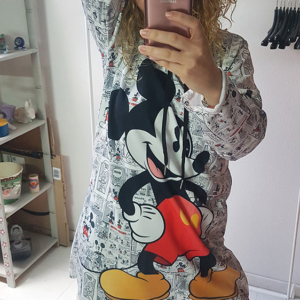 sudadera vestido mickey mouse comic