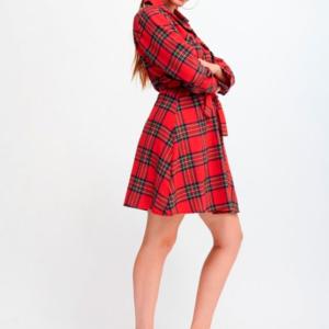 vestido camisero cuadros escoceses