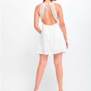 vestido ibicenco corto blanco
