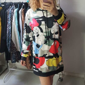sudadera larga mickey minnie camuflaje