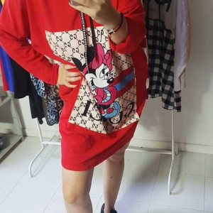 vestido sudadera gucci mickey mouse