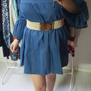 vestido vaquero ancho mujer