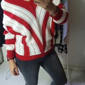 jersey pico rayas rojo blanco