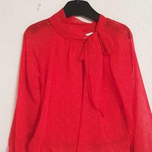 blusa roja niña vestir lazo