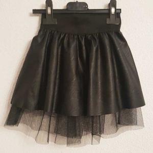 falda polipiel y tul de niña con goma