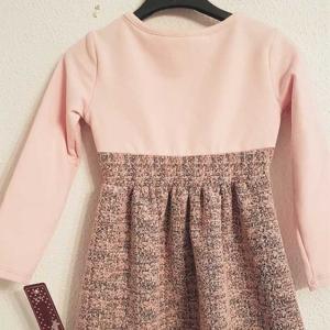vestido de niña un poco de vestir rosa lazo