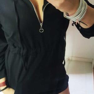 vestido sudadera moda urbana negro