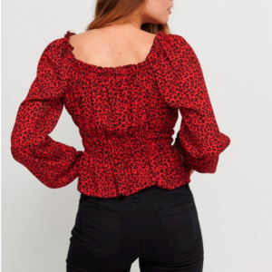 blusa leopardo rojo