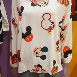 camisetas talla grande mickey minnie siluetas