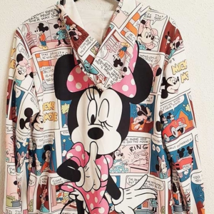 sudadera minnie mouse comic corta